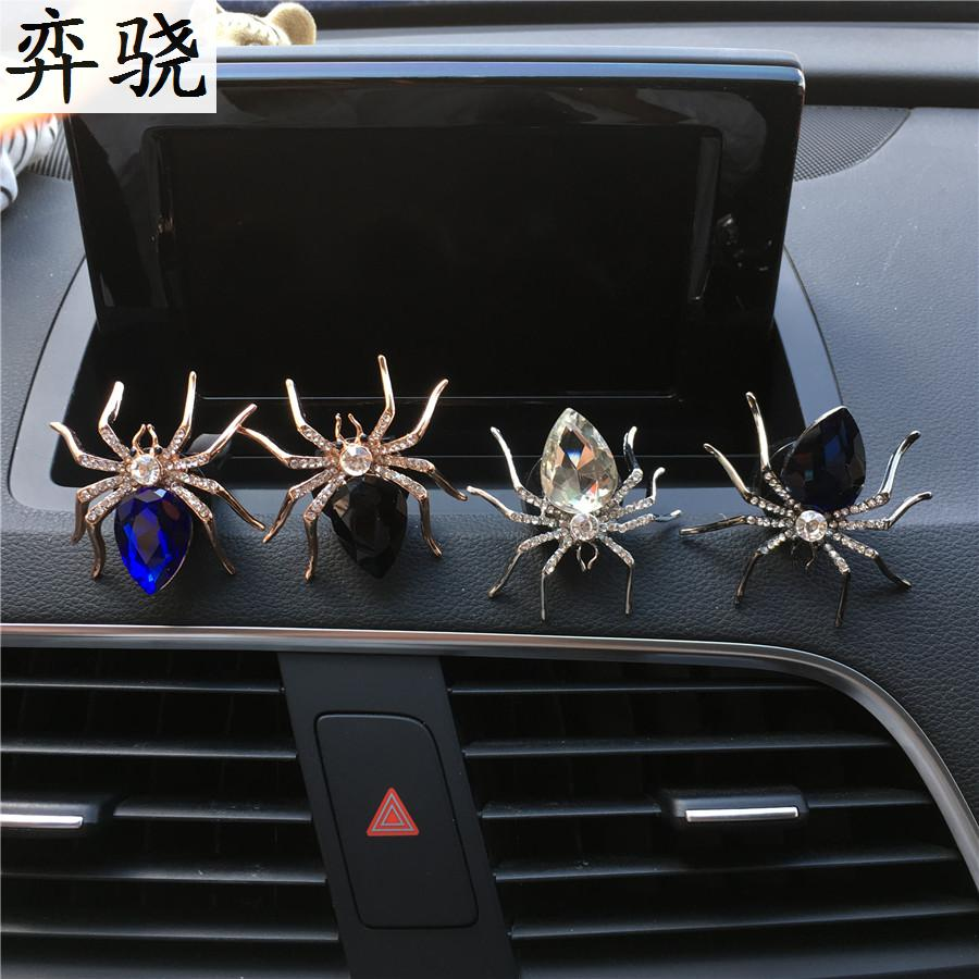 Lady car styling decoration Alloy material spider car perfume clip Vintage men perfume car air freshener Perfumes 100 Originais car outlet perfume air freshener with thermometer lime