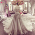 Half Sleeve Gorgeous Wedding Dresses O-Neck Wonderful Brides Dresses Vestido De Noiva Champagne Weeding Dresses  Z906