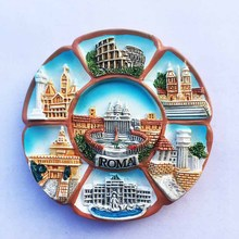 Площадь Святого Петра, Рим, Италия Колизей, 7 сцен, туристические сувениры, магнитные наклейки, холодильник