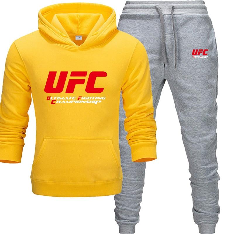 Kensbuy Men Track Suit Fashion Hoodies+ Joggers Pants Men  Pattern Print Set Ultimate Fighting Championship Sportswear Autumn