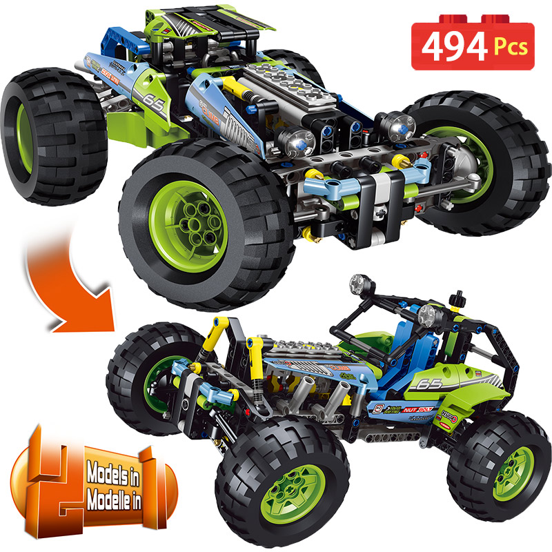 New Technic Series Building Blocks LegoINGLYS Technology SUV Car Model Sets DIY Bricks Designer Toys For Children