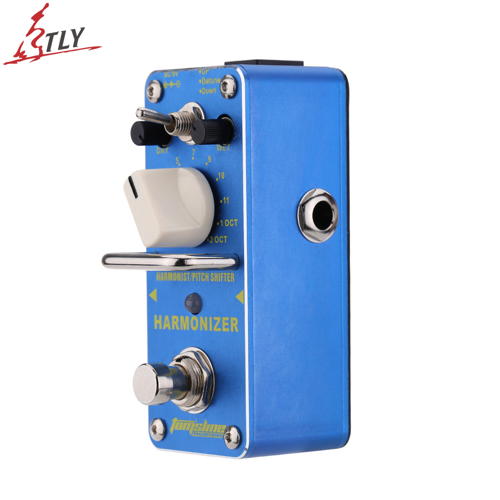 AROMA AHAR-3 True Bypass HARMONIZER Pitch Shifter Guitar Effect Pedal Modulation Full Aluminium Alloy Metal Shell aroma pure echo digital delay guitar effect mini analogue pedal ape 3 true bypass metal shell level knob durable accurate