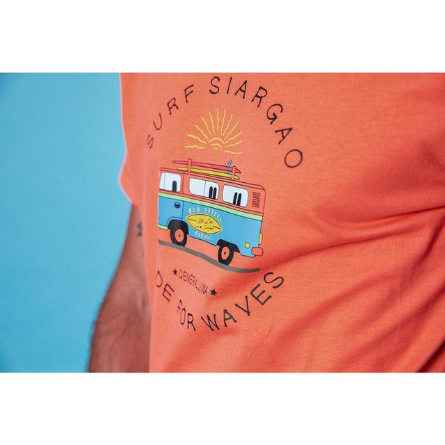 Men's Graphic T-shirts Funny Carton Bus Printed 100% Cotton Breathable