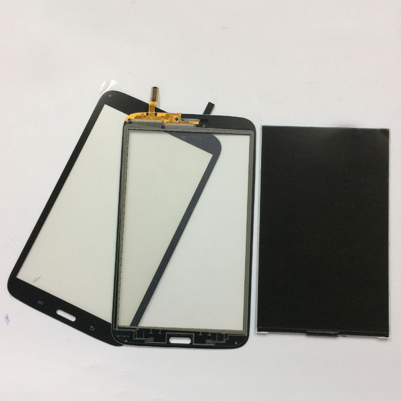 Black For Samsung Galaxy Tab 3 8.0 T311 T315 SM-T311 SM-T315 Touch Screen Digitizer Sensor Glass + LCD Display Panel Monitor free shipping touch screen with lcd display glass panel f501407vb f501407vd for china clone s5 i9600 sm g900f g900 smartphone