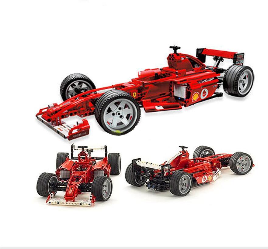 726 pcs Technique Série Coureurs F1 Racer 1:10 Voiture ensemble Bâtiment Modèle Enfants Mini Bloc Compatible 3334 Jouets