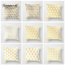 Fuwatacchi Hot  Cushion Cover Patchwork Geometric Pillow For Home Sofa Chair Decorative White Pillowcase