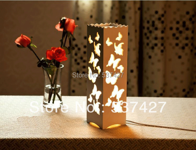 Bedroom Use LED Table Light with 3W LED Bulb Butterfly Flower Decoration AC220V Voltage Input Bedside Lamp