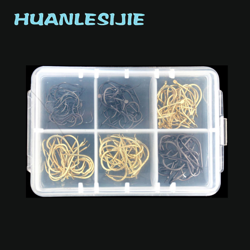 150pcs  High Carbon Steel Fishing Hooks Set in Fly Fishhooks Jig Barbed With Hole For Fishing Accessories