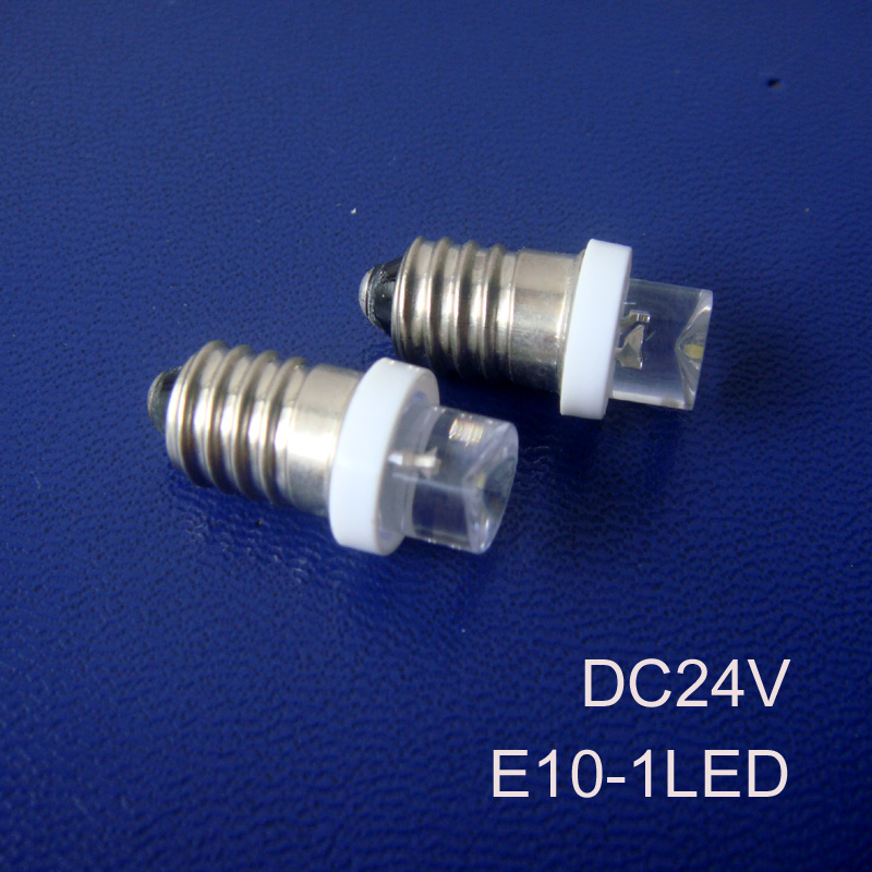 High quality 24v E10 led Indicator Light,Truck E10 24v led bulb led E10 Pilot lamp,E10 LED Signal lights free shipping 50pcs/lot