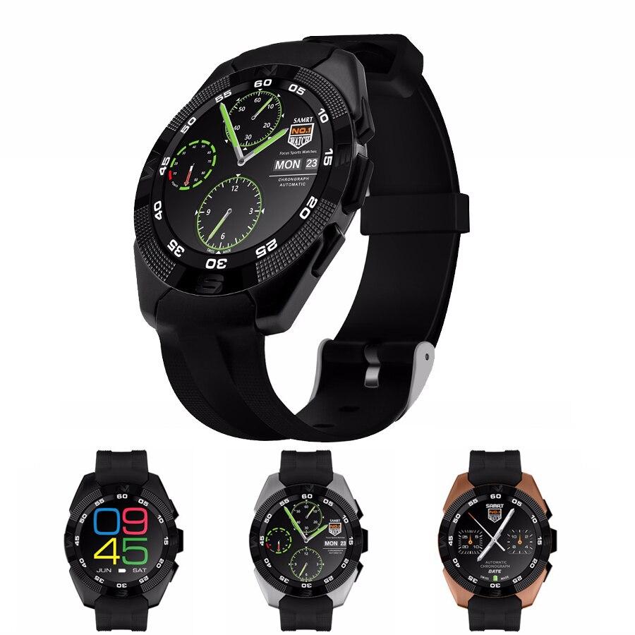 Smart Watch  Smart phone watch Heart Rate Step counter Stopwatch Ultra thin Blue