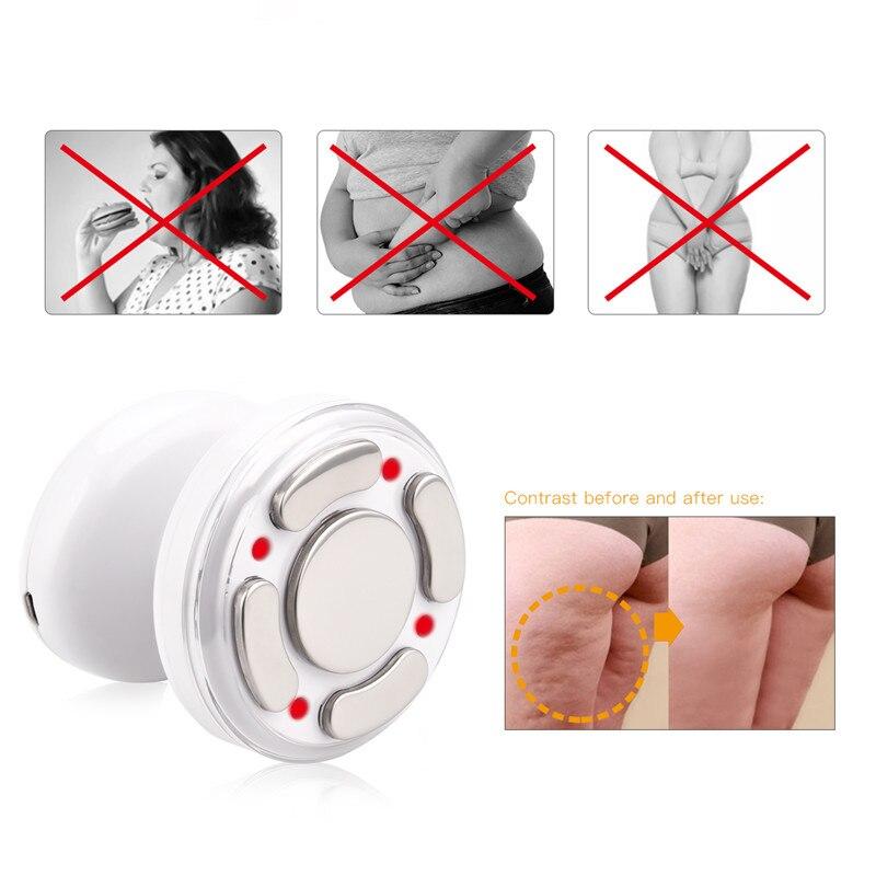 LED Körper Abnehmen Massage Maschine Fett Entfernung Photon Radio Frequenz RF Therapie Wiederaufladbare Gewicht Verlieren Haut Straffende gerät