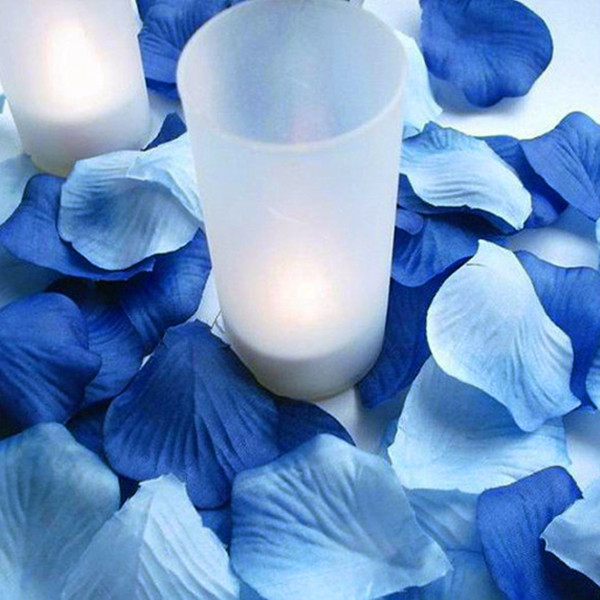 1000PCS Mixed Royal Blue & Light Blue Silk Rose Petals Wedding Party ...