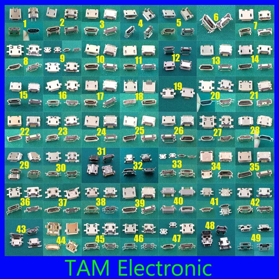 imágenes para 49 modelo mini 5pin micro usb jack conector enchufe puerto de carga para samsung htc lenovo huawei... la tableta del teléfono móvil pc mid