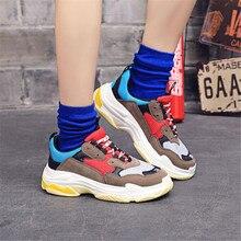 Women Platform Sneakers Men Sports Running Shoes Couple Outd