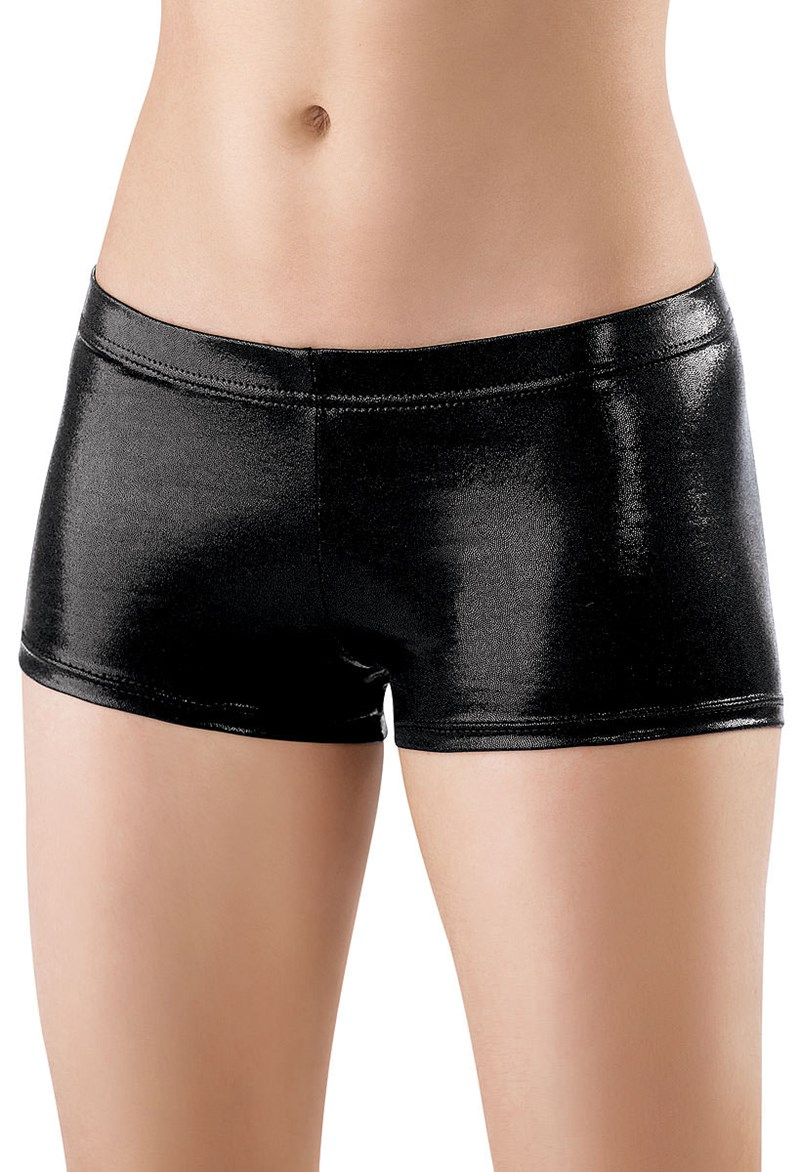 Low Waist Womens Nylon Stretch Metallic Dance Shorts Wet Look Gold Booty Dancer Shorts Spandex Lycra Boy Shorts Party Wear In Shorts From Womens Clothing