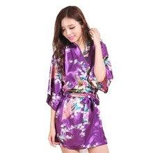 Fashion Women Peacock Kimono Japanese style Bath Robe Nightgown Gown Yukata Bathrobe Sleepwear With Belt S M L XL XXL XXXL