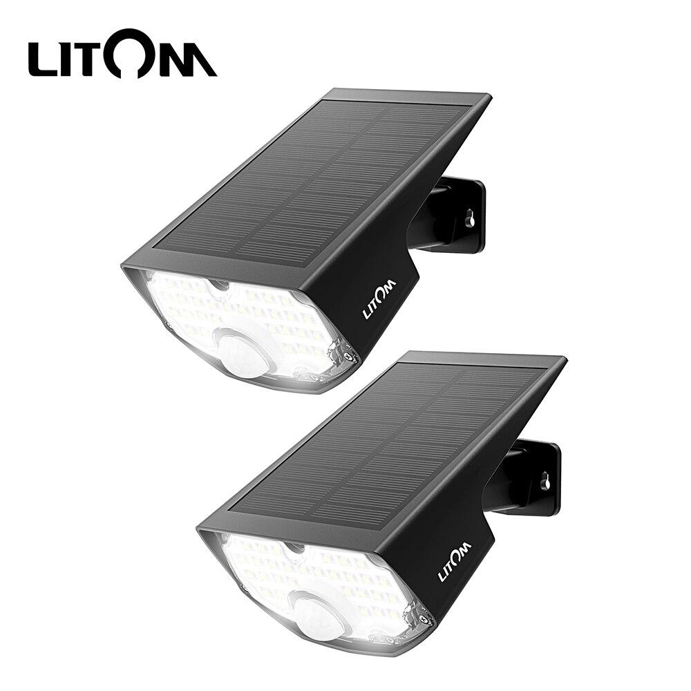 2 4 Pack Litom CD199 30LED Garden Solar Lights IP65 Waterproof Solar Lamp Motion Sensor 3