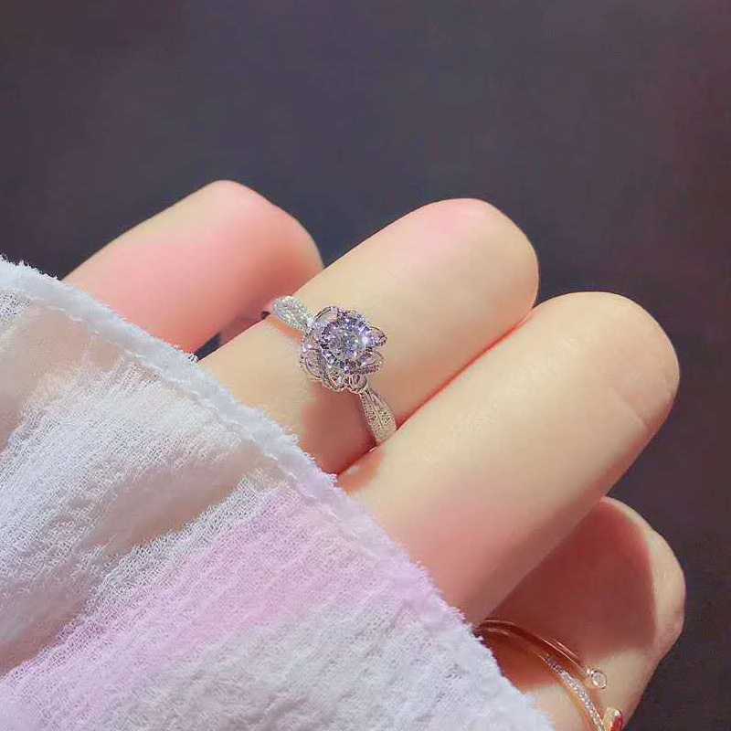 flower wedding engagement rings jewelry (6)