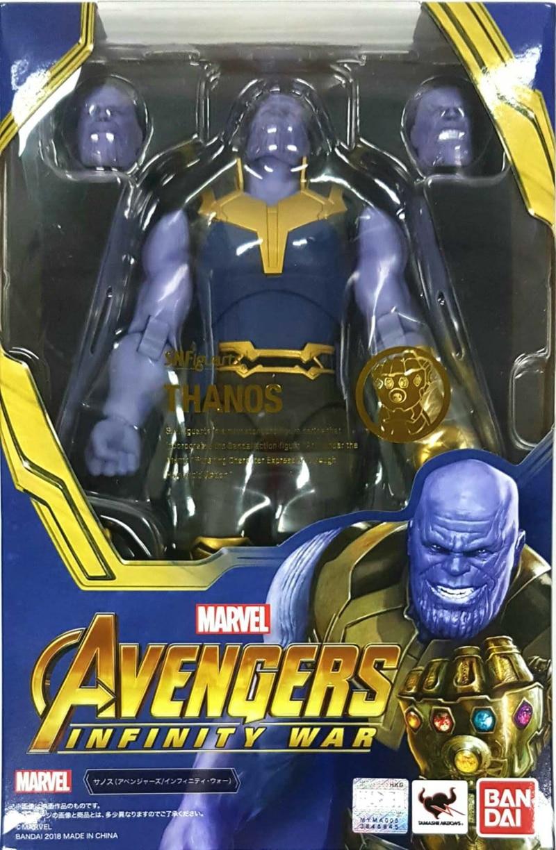 все цены на WSTXBD Original BANDAI S.H.Figuarts Avengers 3 SHF thanos Infinity War Action Figure Brinquedos Dolls Toys Figurals онлайн