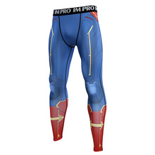 2019 New Captain Marvel  3D Compression Pants Printed Men Cosplay Quick-drying clothes For Gyms