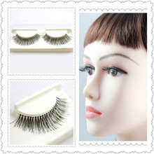 50 pairs False Eyelash natural long full strip lashes super soft lash hand made white cotton stalk eyelashes extensions