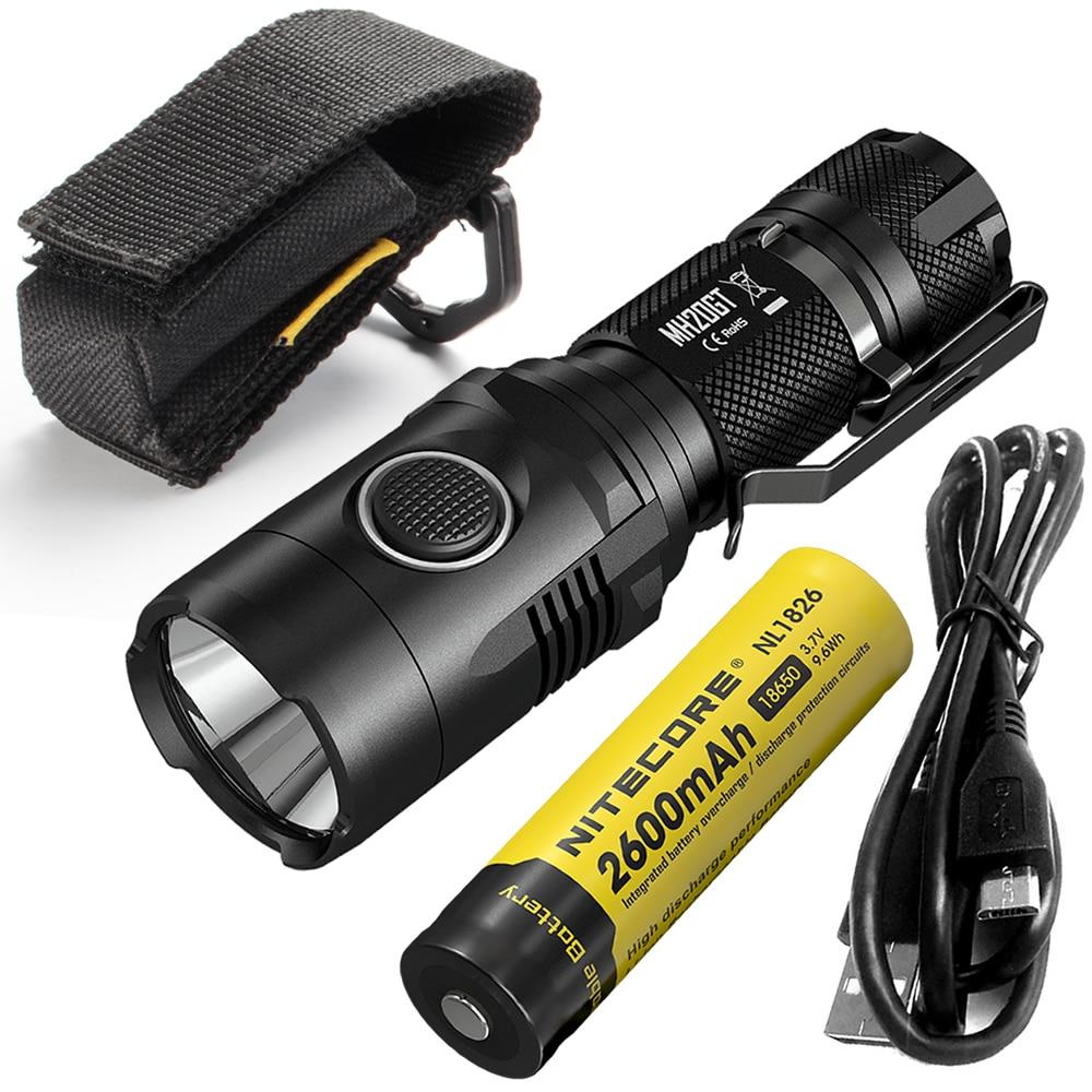 ~SALE~ NITECORE MH20GT BOXSET 1000 Lumen LED Lamp Torch Waterproof Flashlight USB Rechargeable18650 Li-ion Battery Free Shipping