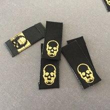 купить Factory Price Custom double density end fold sewing labels woven label flag label дешево