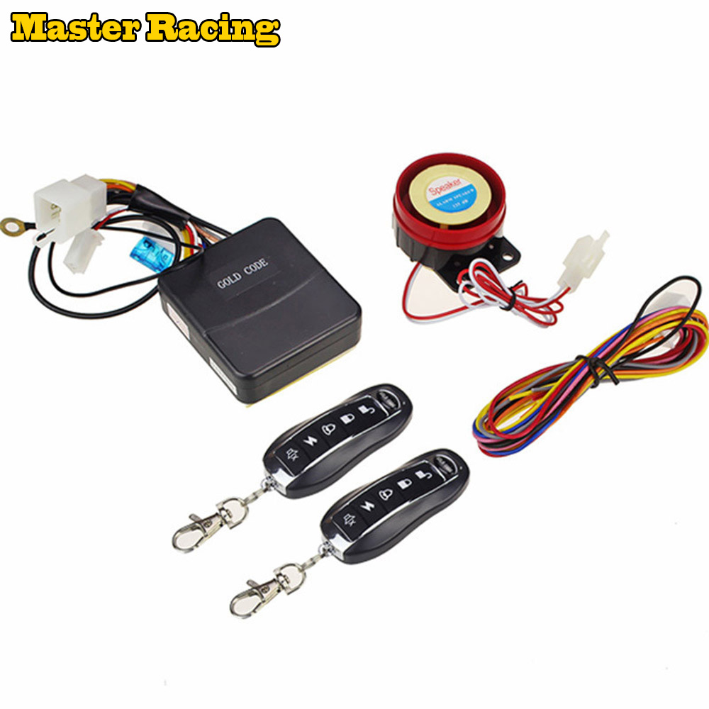 US $19 2 46% OFF|Universal Alarm Moto Anti theft Security Alarm System  Remote Control Engine Start 5 key Alarm For Motorcycle Motorbike Scooter-in