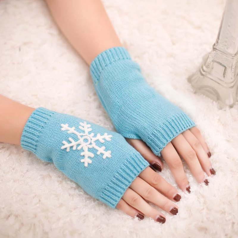 Foreign trade hot button gloves new wool fingerless gloves wholesale half finger gloves half palm computer short gloves in Women 39 s Gloves from Apparel Accessories