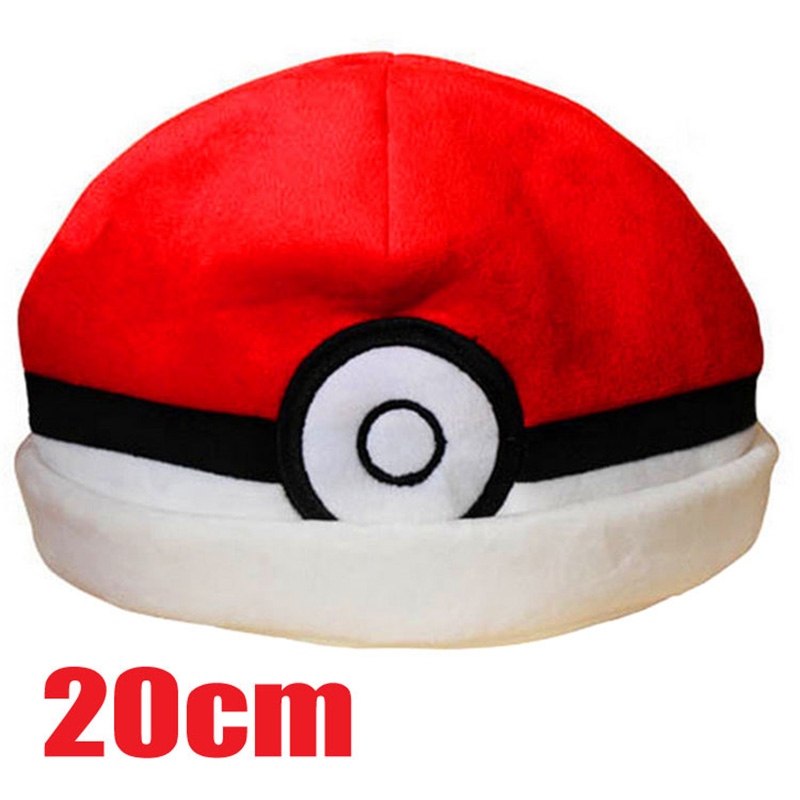 243e8a82b5a 2016 New Fashion Pokemon Elf Hat Plush Ball Warm Hats Cute Anime Cartoon  Gifts For Children