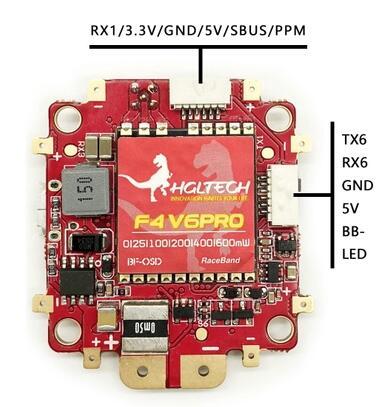 HGLRC F4 V6PRO de control de vuelo con 5,8G de 48CH conmutable transmisor 5V BEC OSD AP|Partes y accesorios|   - AliExpress
