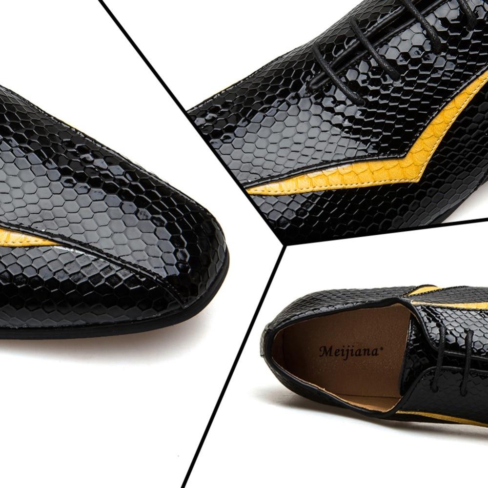 MEIJIANA 2018 nuevo zapato de cuero genuino para hombres zapatos Oxfords marca zapatos de banquete-in Zapatos oxford from zapatos    3