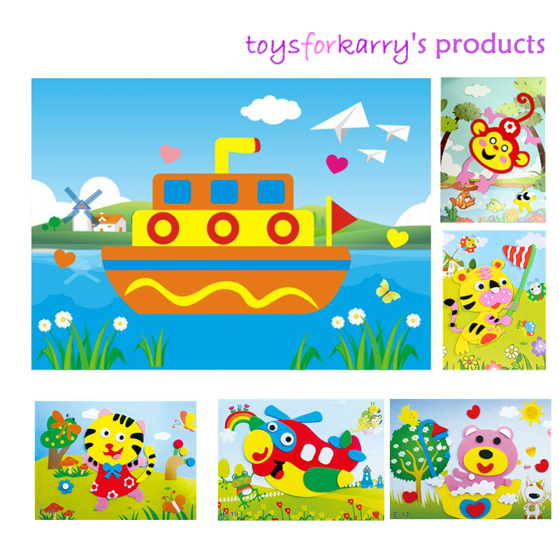3D EVA Foam DIY Sticker Puzzle 20 Variety Cartoon Animal Designs To Choose From * Early Learning Education Toys For Children