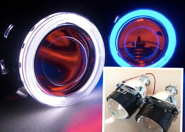 G8 CCFL H4 H7 2.5 inches Mini WST HID Bi xenon Projector Lens Xenon Bulb CCFL Angel Eye Halo for Car Headlight Retrofit Kit цена