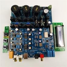 Dual PCM1794 HIFI audio decoder AK4118 Digital reception MCU display control panel finished board
