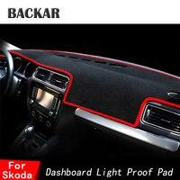 BACKAR Auto Car Dashboard Sunshade Covers Anti slip Mat For Skoda Octavia A5 A7 Fabia 2 5J Yeti Superb 2 3 B6 B8 Rapid Spaceback