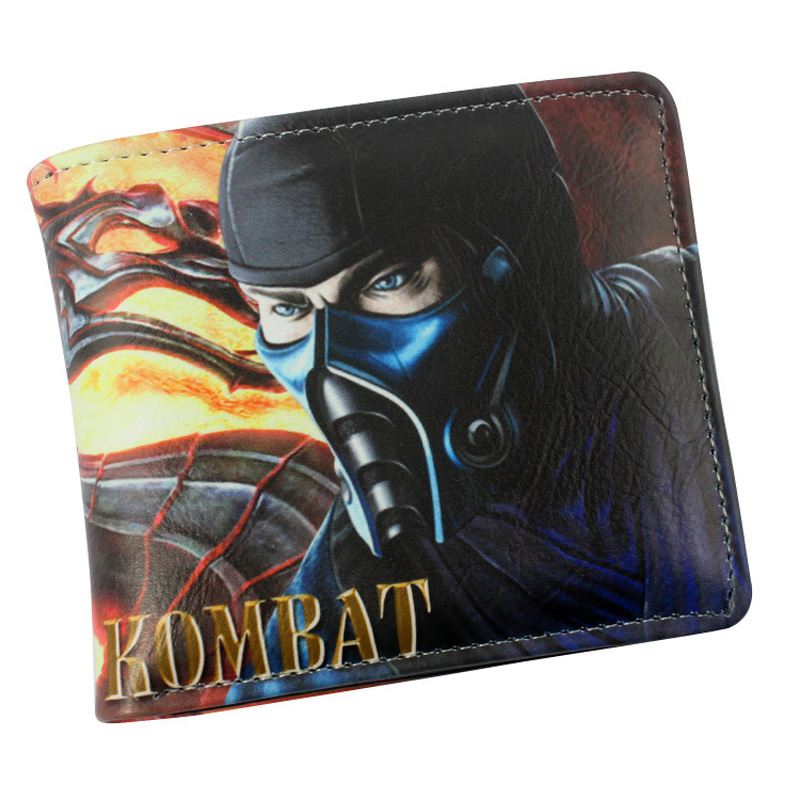American Movie Mortal Kombat Folding Casual Wallet/ High Quality Short PU Purse