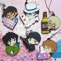 Conan Mouri Ran Haibara Ai Anime Detective Conan Rubber Resin Kawaii Keychain Pendant