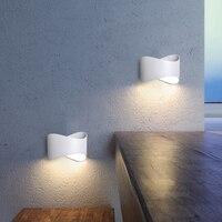 YZKJ Nordic Стиль Настенные Бра современная простота светодиодный настенный светильник железа Ванная комната зеркало светильник Спальня фойе к