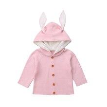 Модная Милая осенняя одежда для новорожденных мальчиков и девочек, вязаный Однотонный свитер, пальто, верхняя одежда