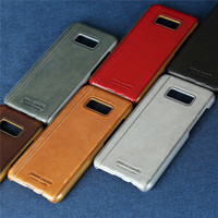 Pierre Cardin High Quality Ultra Thin Genuine Leather Phone Case For Samsung S8 S8 Plus Luxury