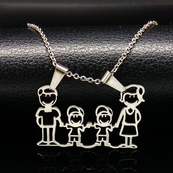 Unisex Family Necklace Jewelry Necklaces Women Jewelry Metal Color: 2 Boy