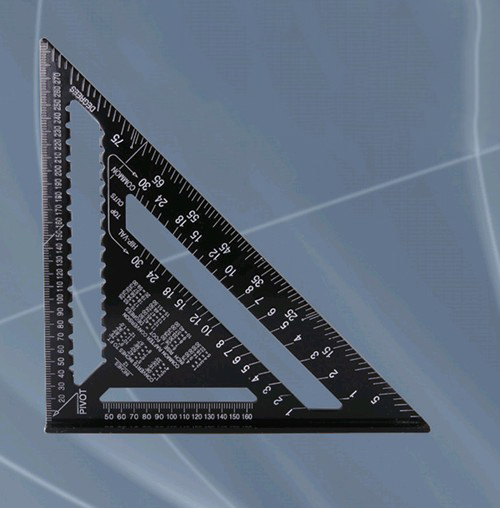 12inch 300mm Black Aluminum Alloy Speed Square Rafter Triangle Angle Layout Guide Construction Carpenter Woodworking Sharpeners
