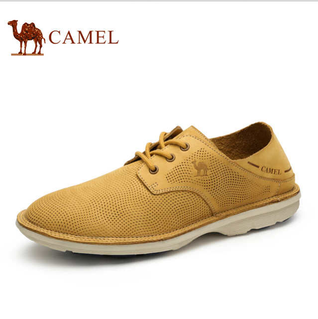 Camel fashion shoes 2016 male daily casual leather shoes cutout breathable shoes male