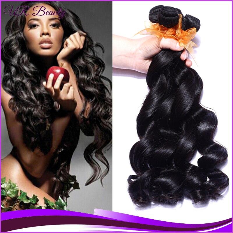 5a Cheap Peruvien Hair Loosewave 4 Pcs Lot Natural Blackperuvien