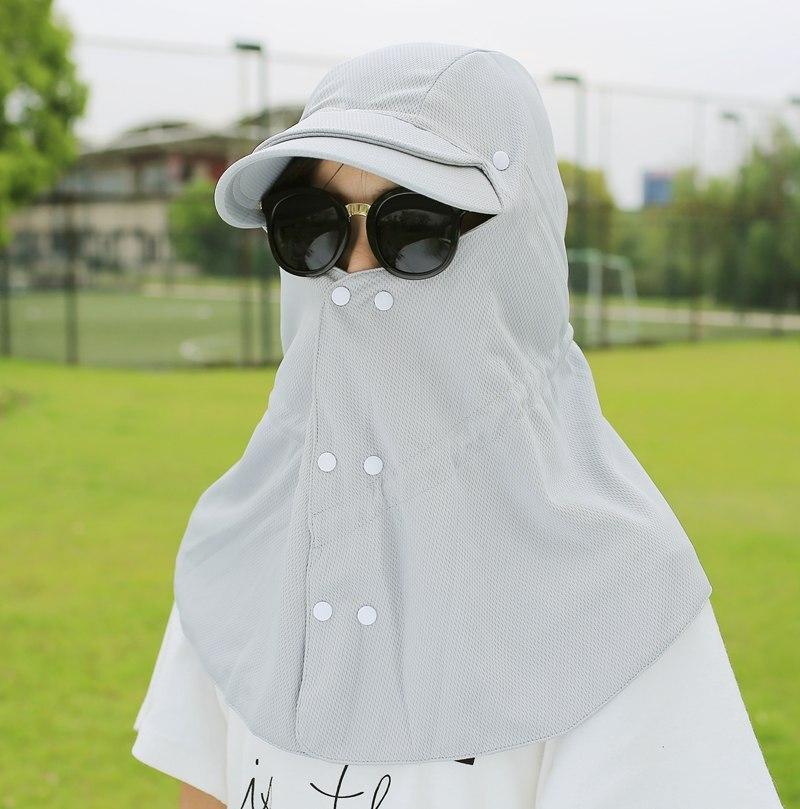 Frank Sommer Sonneschattierung Hut Sonnenschutz Anti-uv Weiblichen Nackenschutz Cap Männlichen Außen Folding Sonnenschutz Hut Kappen