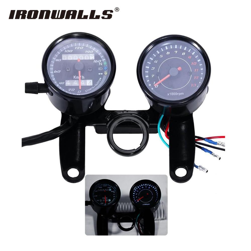 Cafe Racer Gauges : Ironwalls motorcycle speedometer tachometer odometer speed