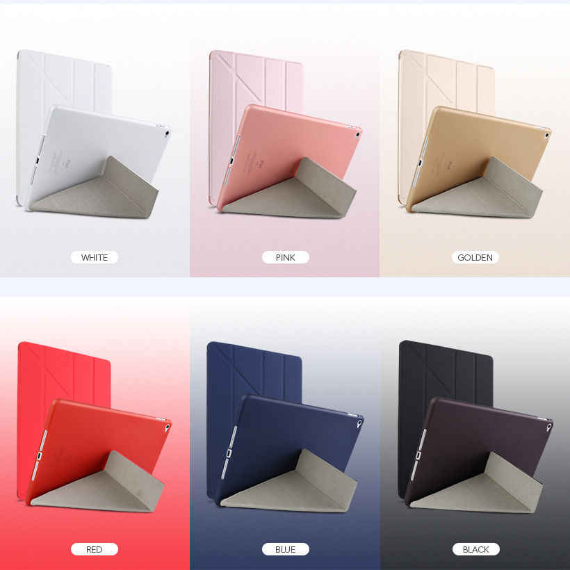 Flip PU Leather Case For iPad9 7 2018 Tablet Case Silicone Soft Back Cover For Apple iPad9 7 2018 Stand Auto Sleep Smart Cover in Fitted Cases from Cellphones Telecommunications