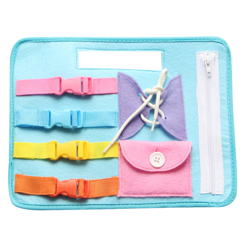 New Baby Early Education Toys Learning Wearing Clothes Zipping Buckle Baby Learning Board