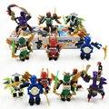 6 unids/lote JX Bricksfun Ninja anime Figura Modelo Bloques de Construcción para Niños Juguetes Para Niños de regalo compatible Lepin